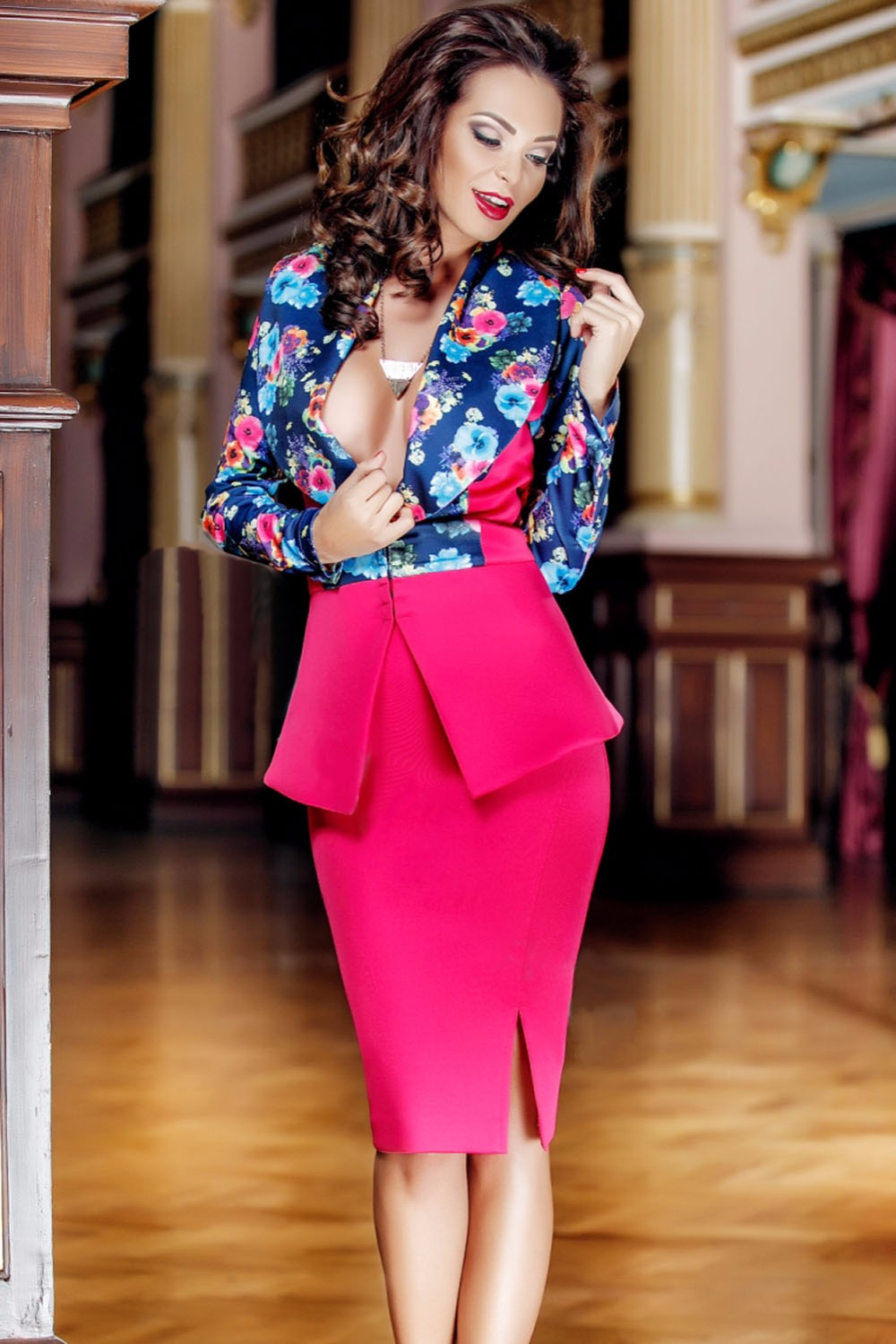 Long-Sleeves-Floral-Print-Jacket-Skirt-Set-LC63015-22-3