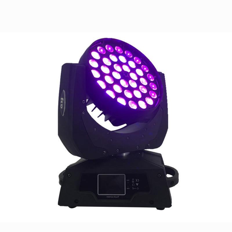 Free Shipping LED 36x18w Led Zoom Moving Head 6in1 RGBWA UV Wash dmx controller for NightClub DJ Disco
