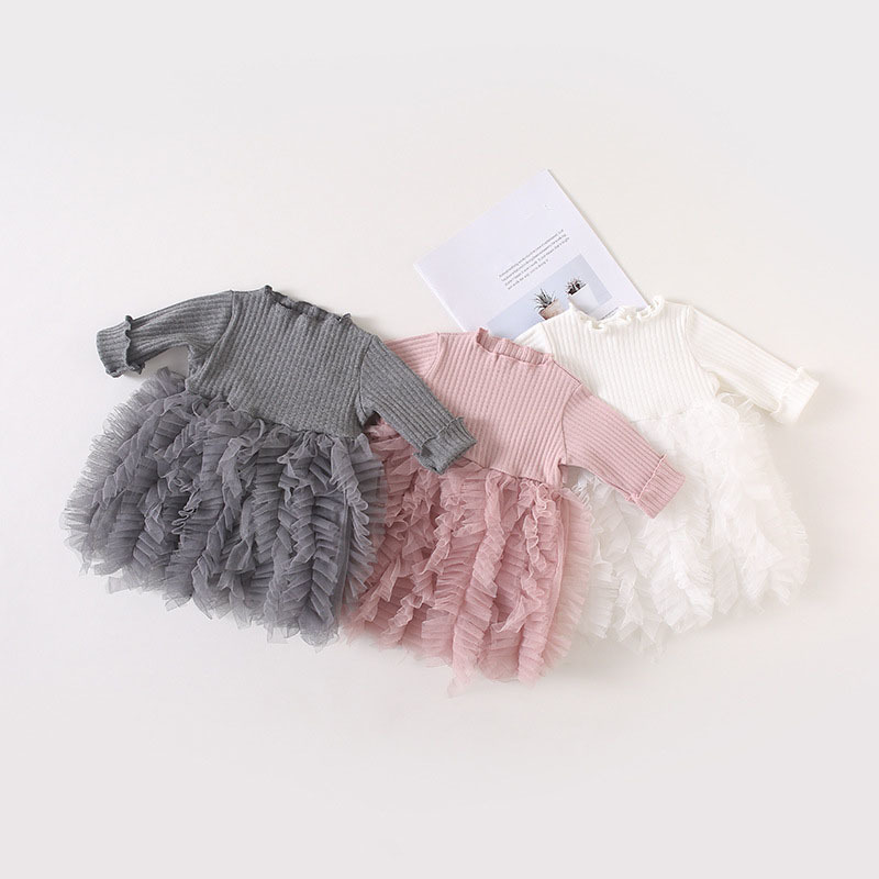 2019 Cotton Long Sleeve Knitted Kids Dresses For Girls Toddler Clothing Baby Girl Drees Tulle Patchwork Grey Pink White Spring 2019 New 2 3 4 5 6 7 8 9 10 11 12 13 14 15 years little knitting party dress girls (24).jpg