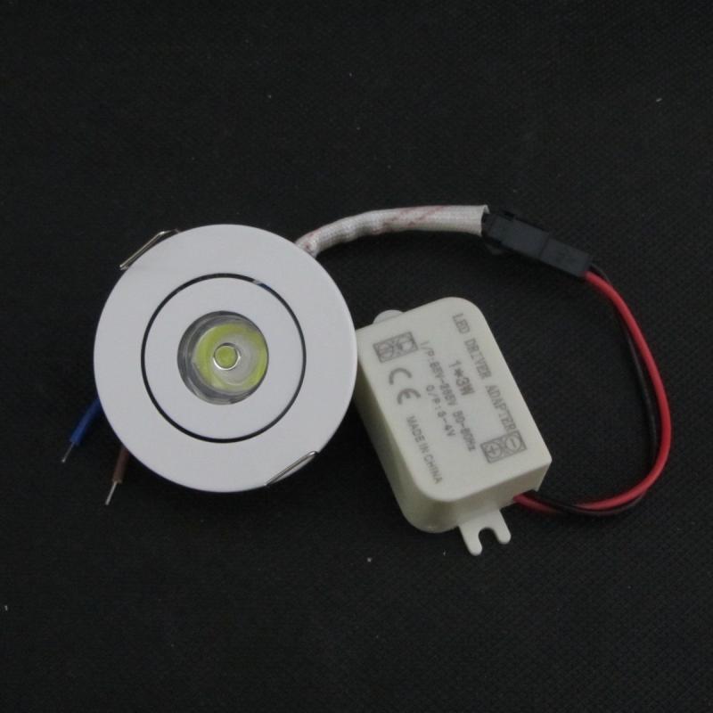 Iluminación empotrada LED regulable mini 1W 3W, 12V DC, 110V, 220V, - Iluminación LED