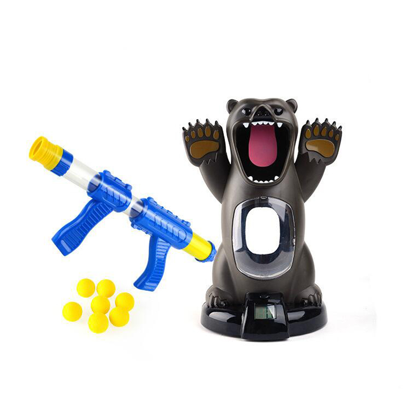 Newest Toys Hungry Bear Electronic Shooting Game Indoor Security Creative Educationl Puzzle Toy for Children Funny Family Game