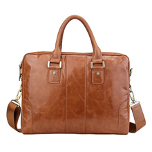 2017 Brand Genuine Leather Briefcase Designer Laptop Business Bag Cowhide Leather Men's Messenger Bags Luxury Lawyer Briefcases