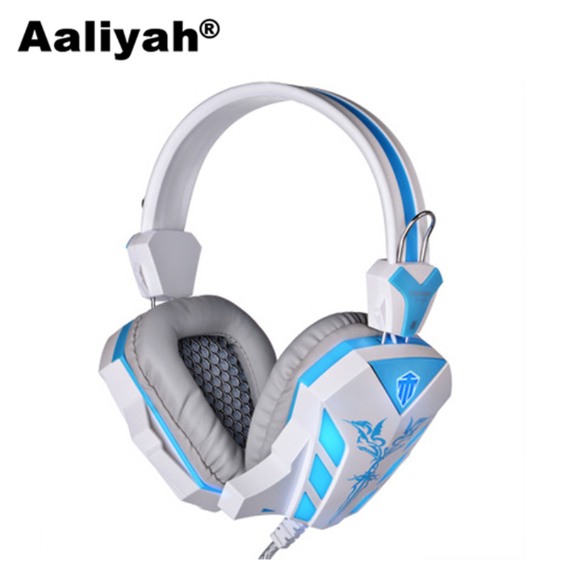 [Aaliyah] CD-618 HiFi Stereo Super Bass LED Light Gaming Headphone Headset with Crack Line Volumn Control Microphone for PC Game each g8200 gaming headphone 7 1 surround usb vibration game headset headband earphone with mic led light for fone pc gamer ps4