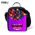 FORUDESIGNS 3D Catroon Emoji Smiley Printing Lunch Bag insulated Fruit Style Lunchbox for Kids Thermal Lunch Box Picnic Food Bag