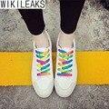 Wikileaks 2016 Novas Mulheres Casuais Sapatos de Lona Mulher Doce Cor Respirável Lace-Up Sapatos Estudante Sapatos Zapatillas Deportivas Mujer