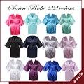 SR004 Mulheres Robe De Seda Roupão de Banho Das Mulheres Robe De Cetim Curto Mulheres Peignoir Pijamas Robes Womens Roupão Pijama Frete Grátis