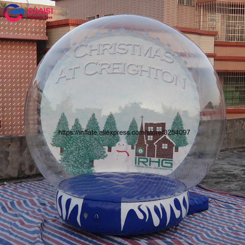 3m diameter inflatable snow globe for christmas decoration promotional PVC high quality inflatable snow ball for sale for photo 2017 vioslite 2 1m inflatable christmas tree with bag in high quality for festival decoration