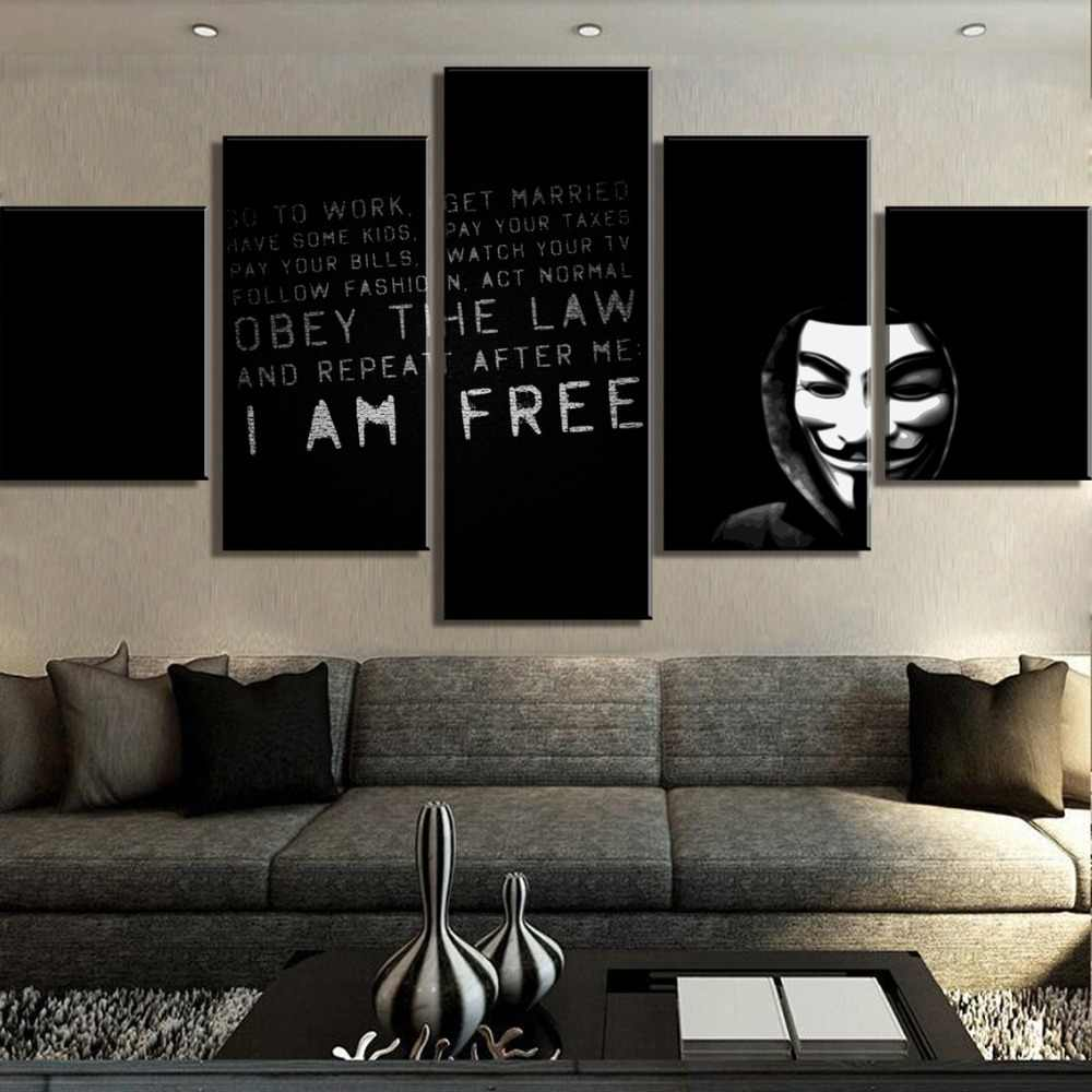 show original title Details about  /Miss Vendetta Canvas 5 pictures Anonymos M51181 HUGE XXL Wall Mural Cheap
