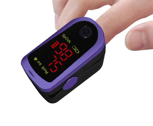 24pcs Health Care Choicemmed Purple Finger Pulse Oximeter Oximetro Wholesale Free Shipping MD300C13
