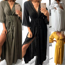 Hirigin Elegant Ladies Women Oversize Satin Long Nightdress Silk Lace Sexy Lingerie Nightgown Sleepwear Sleepshirts Hot Sale