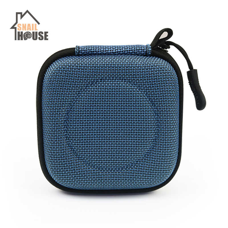 Snailhouse Headphone Case Bag Portable Earphone Earbuds Hard Box Storage For Memory Card USB Cable Organizer Mini Earphone Bags