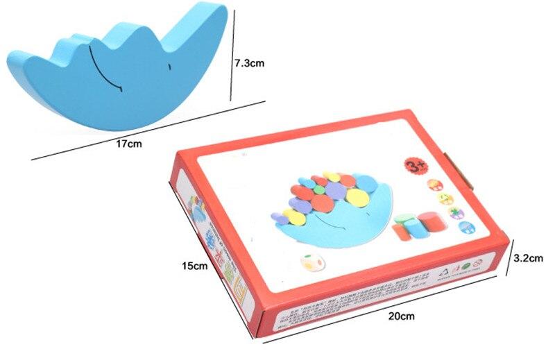 Купить с кэшбэком New Wooden Baby Toy Montessori Moon color balance blocks children's educational toys piles of music stack tower