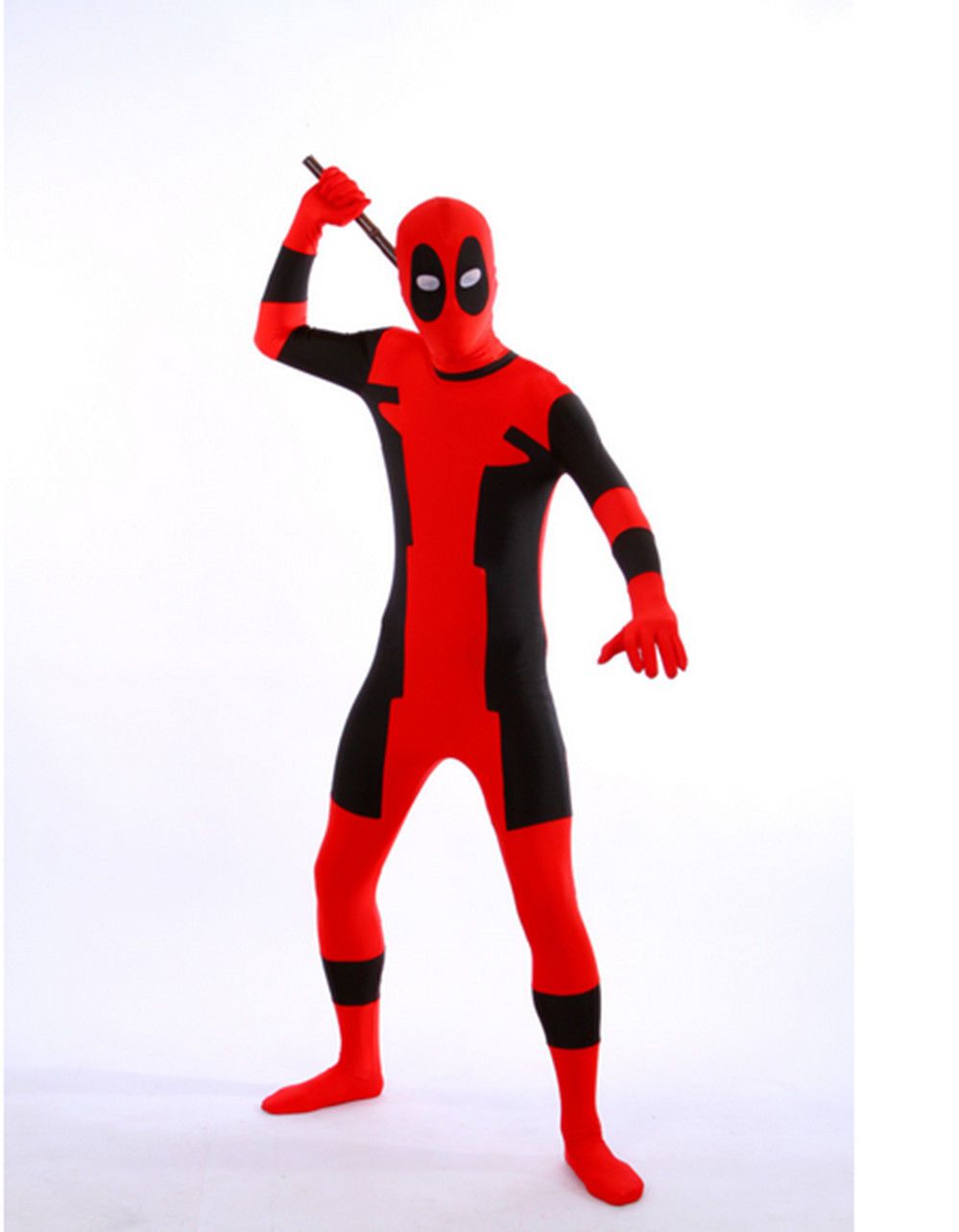 UK Halloween Adult Kids Full Body Deadpool Avengers Cosplay Costume Mask Suit