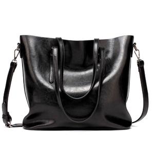 Image 1 - Brand Women Leather Handbags Womens PU Tote Bag Large Female Shoulder Bags Bolsas Femininas Femme Sac A Main Brown Black Red