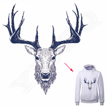 Two Size Deer Iron On Patches 23*24 / 7*7 cm Ironing Stickers For Clothing DIY Accessory Decoration A-level Washable Appliques