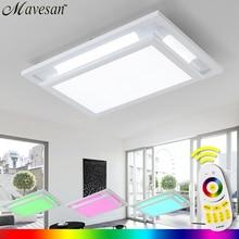 Venta caliente Luz de Techo led para sala de estar con brillo cambiante Remoto y multicolor de led RGB luz de techo de montaje