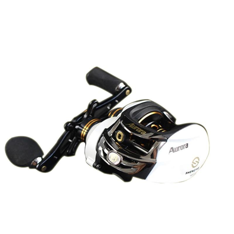 все цены на Hu Ying 11+1BB Baitcasting Fishing Reel 6.3:1 Bait Casting Reels Left / Right Hand Reel with Fish Pesca Reel Max Drag Centrifuga онлайн