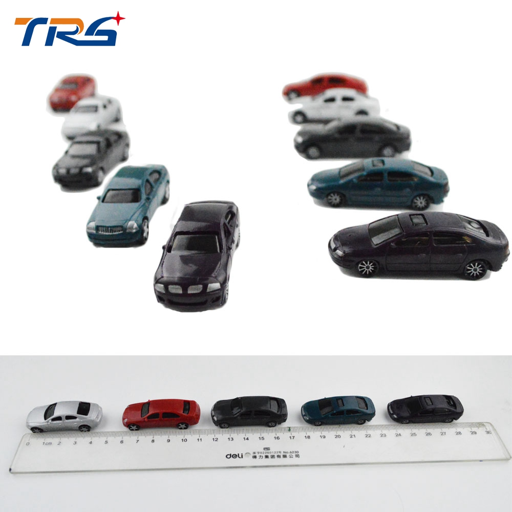 50PCS 1 100 scale ABS plastic model car toy for architectural miniature kits