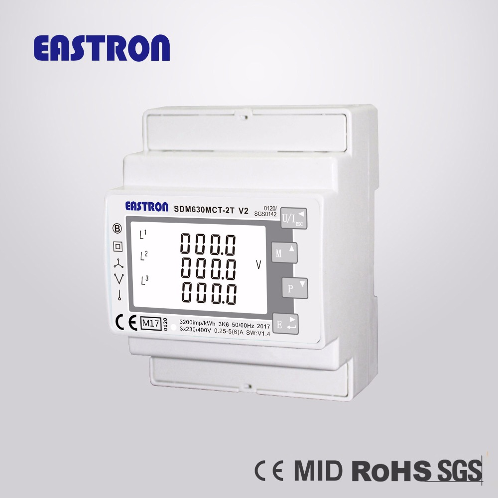 US $108 9 |SDM630 MCT 2T MID, 1/5A CT connected, Dual Input Multifunction  Power Meter for Lighting and Power, RS485 Modbus RTU,MID Approved-in Energy