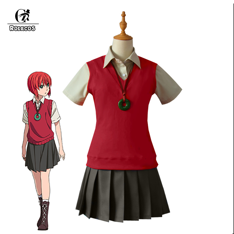 ROLECOS 2017 New Anime Mahoutsukai no Yome Cosplay Costumes Hatori Tomoyo Uniform The Ancient Magus Bride Full Set