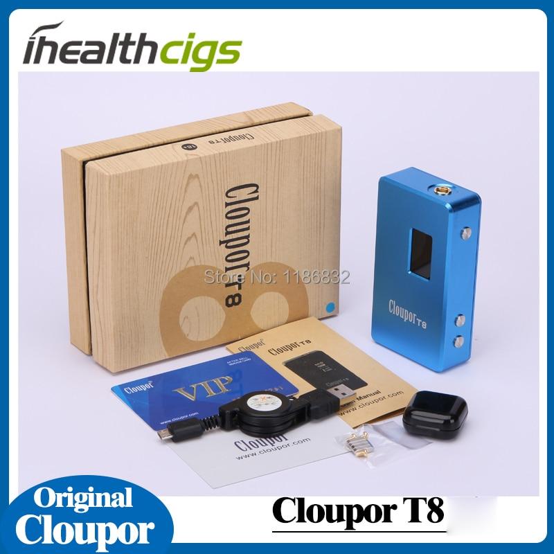 100% Original Cloupor T8 mechanical mod 150w box mod cloupor t8 with various voltage for 18650 battery electronic cigarette 5pcs