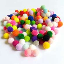Домашние поделки 10 мм/15 мм/20 мм/25 мм разные цвета в произвольном порядке помпон мягкие помпоны шарики для детские игрушки «сделай сам» Аксессуары