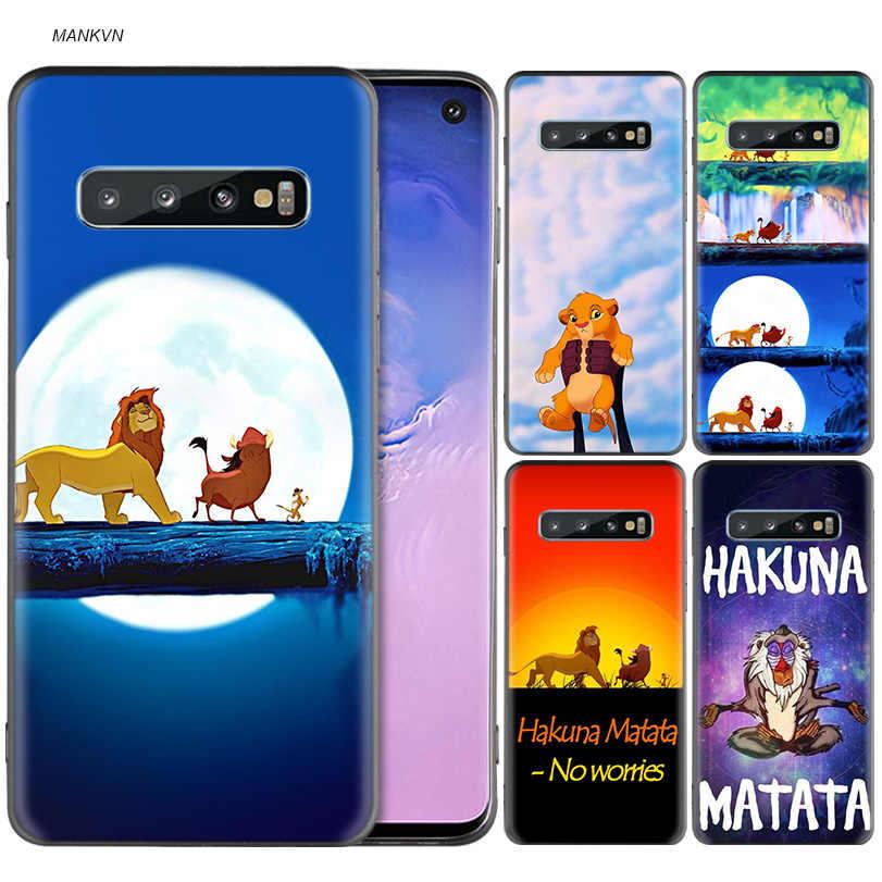 Hakuna Matata Lion King Черный силиконовый чехол для samsung Galaxy M10 M20 M30 M40 S10e S10 S9 S8 Plus 5G S7 Edge Cover Coque Capa