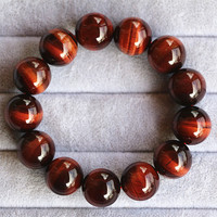 AAAA Red Tiger eye STONE Man Bracelet Ornaments Fund Hand Decorate Husband Beads Hand String Male Accessories Lovers 16MM