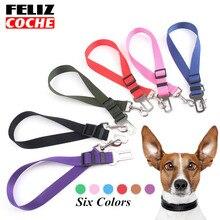 FELIZCOCHE Adjustable Pet Cat Dog Car Safety Belt Collars Pet Restraint Lead Leash Travel Clip Car Safety Harness Vehicle A3301