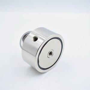 Неодимовый магнит, мощный двухсторонний спасательный магнит, рыболовный крючок, поисковый магнит, монтажный горшок с кольцом, морское обор...