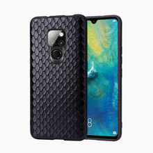 Fitted cases For Huawei Mate p20 Pro RS X P20 P30 Phone Case Leather phone bag Men Women Fish scale pattern Business