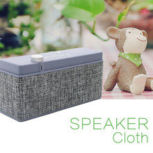New Portable Wireless Bluetooth Speaker Creative home simple linen desktop cloth audio Music Sound Box Subwoofer Loudspeaker