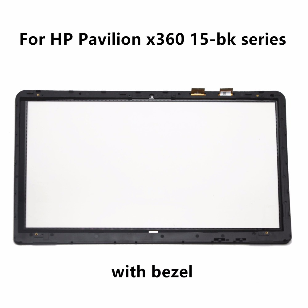 15.6'' for HP Pavilion x360 15-bk127cl 15-bk100nx 15-bk153nr 15-bk105na 15-bk056sa 15-bk152nr Touch Screen Digitizer Glass Bezel ismaya 15 khalid
