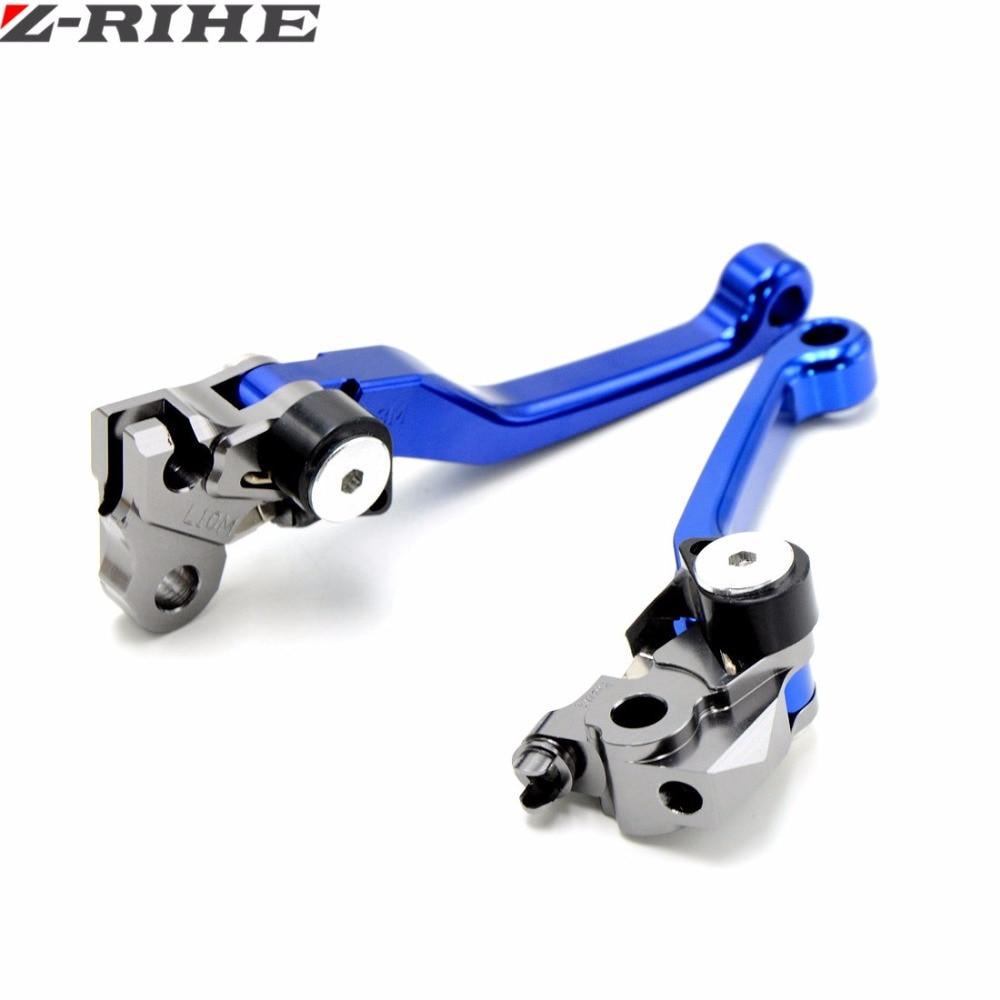 Motorcycle CNC Pivot Brake Clutch Levers for HONDA 125 SUZUKI 250 YAMAHA 450 WR250 YZ YZF WR 250 KTM 150 KAWASAKI 500 KX 250 for yamaha yz80 yz85 kawasaki kdx200 kdx220 suzuki rm85 rm125 rm250 drz125l cnc dirttbike pivot brake clutch levers blue