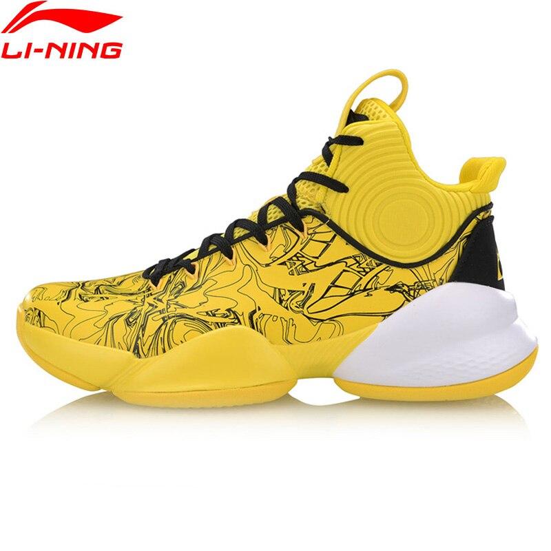 Li-ning men power v profissional sapatos de basquete forro wearable nuvem almofada conforto sapatos esportivos tênis sjfm19