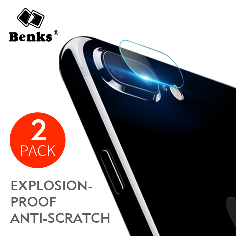2pcs For iPhone 8 7 plus Benks Camera Lens Screen Protector Tempered Glass Film 9H Corning Glass Scratch Proof Lens For iPhone8