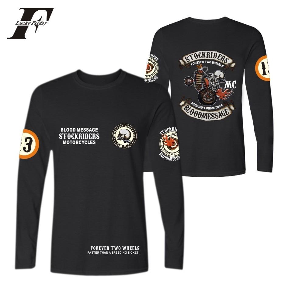 LUCKYFRIDAYF 2017 West Coast Punk Skull Locomotive New Trend Style Women/Men Long Sleeve Summer Cotton T-Shirts Plus Size 4XL