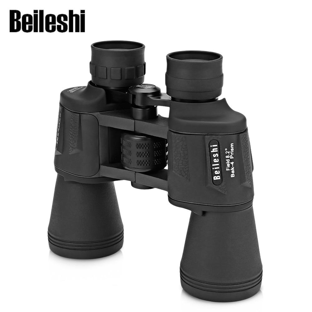 Beileshi 20X50 prismáticos 56 M/1000 M HD Visión-amplio ángulo de prisma prismáticos al aire libre telescopio BAK4 HD Visión Binocular
