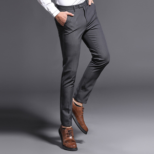 Image 4 - 2018 New Slim Fit Men Pants Stretch Trousers Mens Sunmmer High Quality Classic Casual Clothes Formal Straight Suits Long Pant