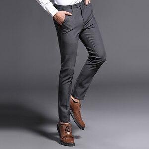 Image 4 - 2018 ใหม่ Slim Fit กางเกงชายยืดกางเกงผู้ชาย Summer คุณภาพสูง Classic Casual เสื้อผ้าอย่างเป็นทางการตรงชุดยาวกางเกง