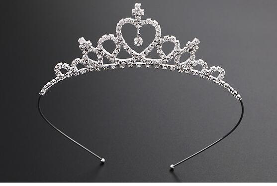 Girl Princess Hairband Child Party Bridal Crown Headband Crystals Diamond TiaraW