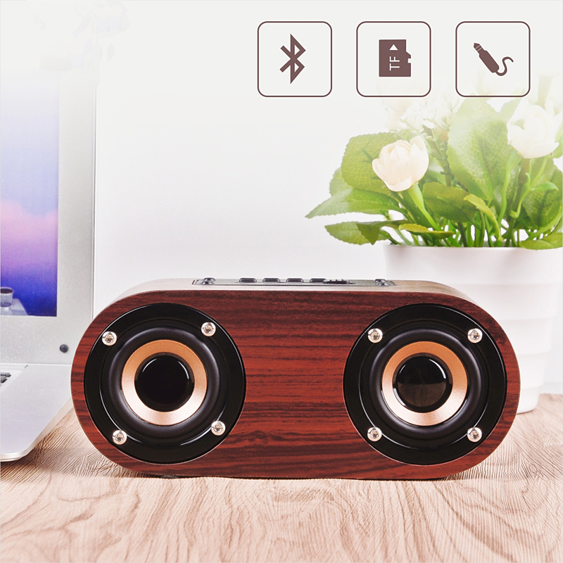Wooden Wireless Bluetooth Speaker Portable Caixa De Som Bluetooth Subwoofer Speakers Support TF AUX Soundbar Sound Box