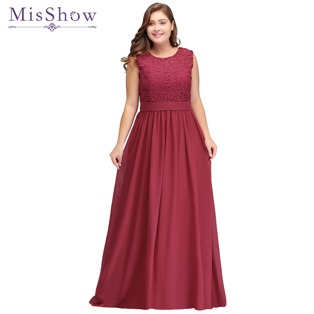 Cheap Long Chiffon A-Line Burgundy Bridesmaid Dresses plus size 2019 Vestido da dama de honra Prom Wedding Party Dresses