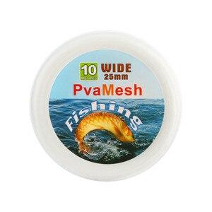 3PCS 10 meters 25mm/37mm/44mm Bobing PVA Mesh Refill Fishing Net Carp Fishing Stocking Rig Wrap Bags Baits Thrower