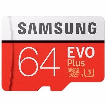 100% Original SAMSUNG Micro tarjeta SD 64 GB u3 tarjeta de memoria EVO Plus de 64 GB Class10 TF tarjeta C10 80 MB/S MICROSDXC UHS-1 envío gratuito