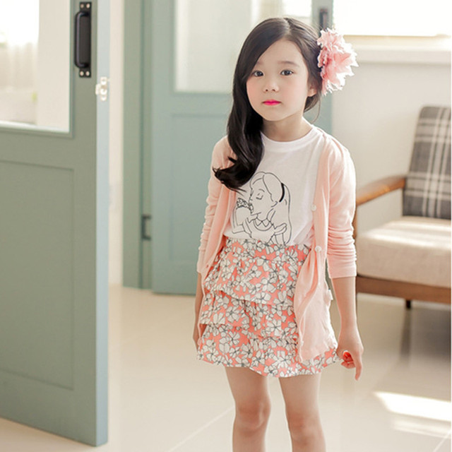 f219be6d2 2018 Summer Girls Long Sleeve Cardigan Jackets Children Clothing ...