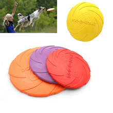 Топ Великий 2016 Новый Питомец Собака Летающий Диск Мягкий Экологичный Натуральный Каучук Собака Фрисби Летающий Диск Обучение Игрушки 20 см