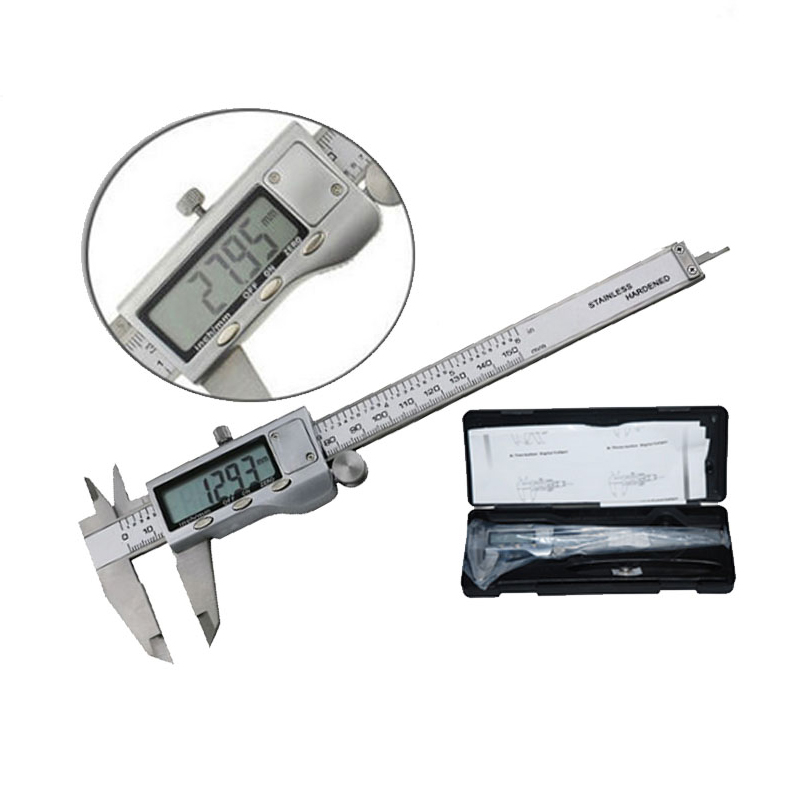 1pcs Stainless Steel 150mm/6-inch Electronic Digital Vernier Caliper Micrometer Guage