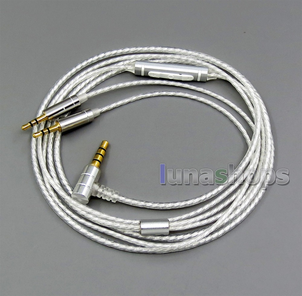 LN006191 Mic Remote Cable for Hifiman HE400S HE-400I HE560 HE-350 HE1000 V2 Headphone 3.5mm to 2.5mm