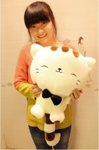 Hot Selling 40cm Lovely Big Tail Large Face Cat Plush Toy Pillow Birthday Gift Free Shipping